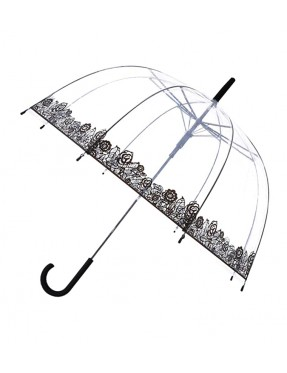 Smati parapluie long automatique transparent dentelle