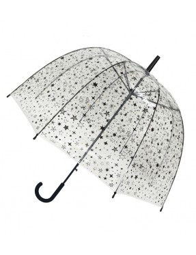 Smati parapluie long transparent automatique étoilés