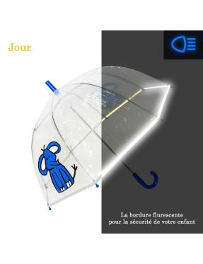 parapluie enfant éléphant avec bordure fluorescente