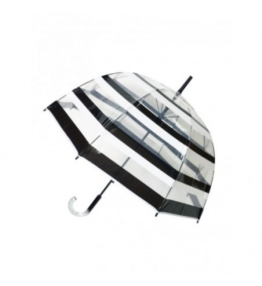 Smati parapluie long transparent automatique ¨¤ rayure