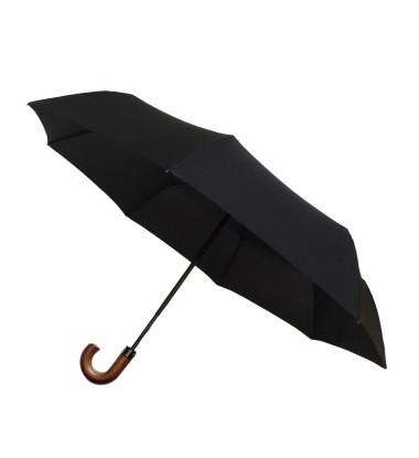 Smati parapluie pliable noir avec poign¨¦e en bois