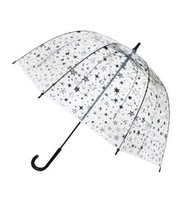 Smati parapluie enfant transparent étoilé