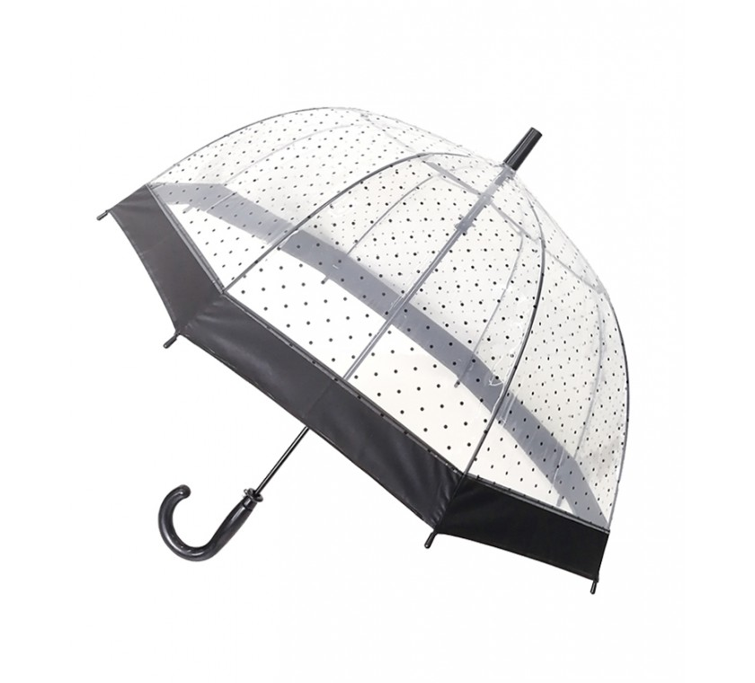 Smati parapluie enfant transparent pois