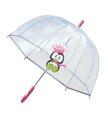 Smati parapluie transparent enfant pingouin