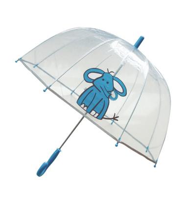 Smati parapluie transparent enfant éléphant bleu