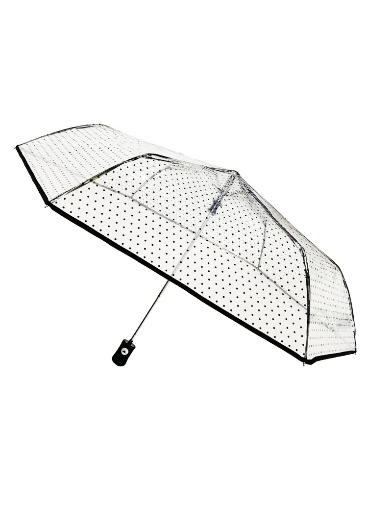 Smati parapluie femme transparent pliable aux pois