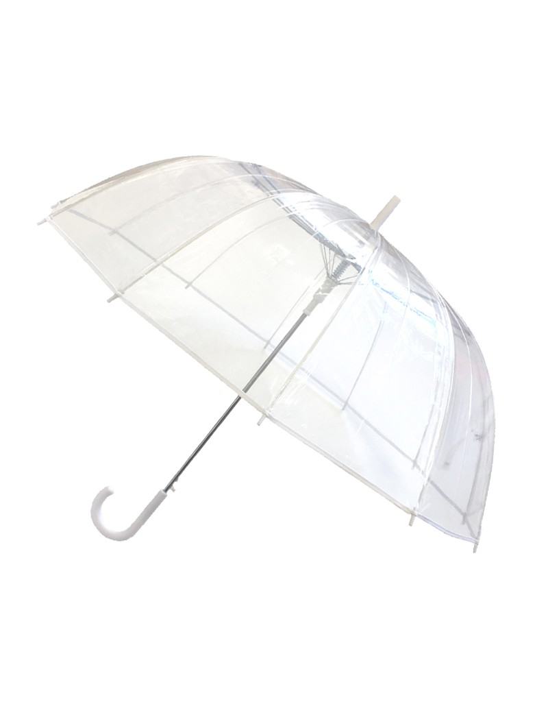 Smati grand parapluie transparent à bordure blanche