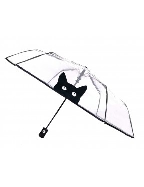 Smati petit parapluie transparent automatique chat