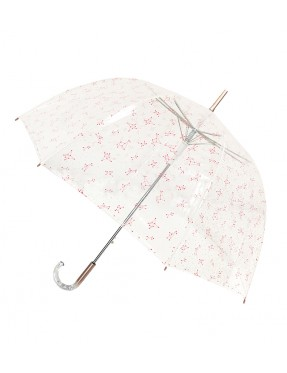 Smati parapluie femme transparent constellation rose