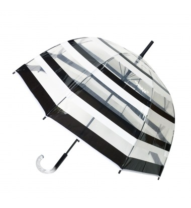Smati parapluie long transparent automatique à rayure