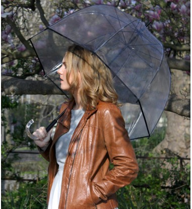 parapluie femme cloche transparent automatique simple