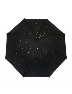 parapluie long femme noir avec strass